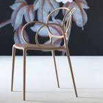 silla de comedor moderna / con reposabrazos / apilable / de polipropileno