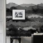 papel pintado de diseño original / monocromo / negro / sin tejer