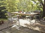 Mesa de comedor / moderna / de acero inoxidable / de madera maciza EIERMANN  Richard Lampert
