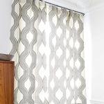 Tela de tapicería / para cortinas / con motivos / de poliéster COLLINS : GRAPHITE Larsen