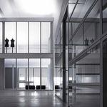tabique fijo / de metal / de vidrio / para oficina
