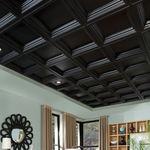 falso techo de PVC / en losas / decorativo / con relieve