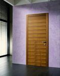 puerta de interior / de vaivén / de madera / a ras