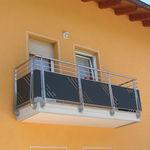 balcón con paneles / con barrotes / de acero inoxidable