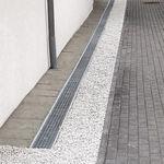 canal de drenaje de fachada / de acero / con rejillas