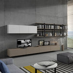 mueble TV moderno / de vidrio