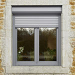 contraventana enrollable / de aluminio / de PVC / para ventana