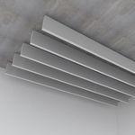 absorbente acústico de acero / suspendido / rectangular / decorativo