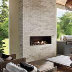 Ladrillo macizo / para muro interior / blanco / con relieve TUNDRABRICK® : CHALK DUST Eldorado Stone