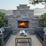 Chimenea de leña / moderna / hogar cerrado / encastrable SHERWOOD™ Eldorado Stone