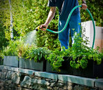 jardinera de plástico reciclado / rectangular / moderna / para hotel