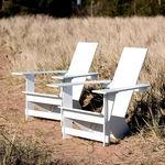 silla moderna / adirondack / de polietileno / de exterior