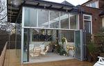 ventanal corredero-apilable / de aluminio / con vidrio doble / con vidrio triple