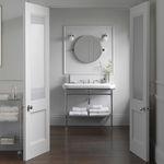 espejo para baño de pared / moderno / redondo / de acero