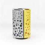 cubo de basura público / de metal / moderno / de reciclaje
