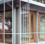 Ventanal corredero / de madera / con vidrio doble / de seguridad GERMAN EMBASSY Accsys Technologies