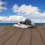 tarima de exterior de WPC / aspecto madera / sostenible / para espacio público