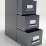 armario de oficina alto / de acero / con puerta corredera / con cajones