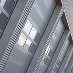 ventana basculante / de acero inoxidable / para edificio comercial