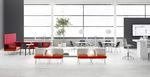 silla de visita moderna / de plástico / apilable / para edificio público