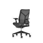 sillón de oficina moderno / en malla / ergonómico / rojo