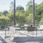 silla moderna / tapizada / patín / con cojín amovible