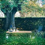 Banco de jardín / moderno / de acero inoxidable / de teca  Knoll international