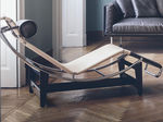 Chaise longue moderna / de acero / de cuero / de interior LC4 CP Cassina