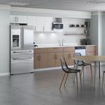 cocina profesional de madera / con asideros / para oficina