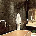 baldosa de pared / de pizarra / color liso - KALEIDOS : CUBUS PRETO