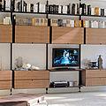 biblioteca moderna / de metal / de madera - SAIL