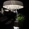 lámpara araña moderna / de cristal / hecha a mano