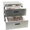frigorífico combi profesional / con cajones / de acero inoxidable / con congelador integrado
