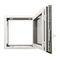 ventana abatible / oscilobatiente / de aluminio / con vidrio dobleKALORY E KAWNEER