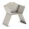 silla moderna / con reposabrazos / de acero galvanizado / de exterior