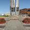 jardinera de acero galvanizado / redonda / moderna / para espacio público