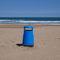 cubo de basura público / de plástico reciclado / moderno