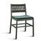 silla moderna / tapizada / de tejido / de madera