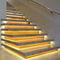 Mamperlán de aluminio anodizado / con perfil de iluminación LED STAIR PROFILE INDIRECT liniLED®