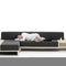sofá modular / moderno / de tejido / de contrachapado