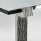 Mesa de centro clásica / de vidrio / de metal pintado / de hierro forjado GEOGLYPHE Mobilier De Style