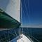 tela para protección solar / de color liso / de poliéster / para barco
