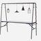 mesa moderna / de acero con revestimiento en polvo / de zinc / rectangular