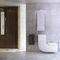 inodoro suspendido / de porcelana / con lavabo integrado