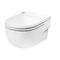 inodoro suspendido / de porcelana / con cisterna empotrada