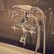 grifo mezclador para ducha / para bañera / de pared / de metal cromado