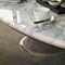 mesa de centro moderna / de metal pintado / de cuero / de mármol