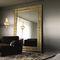 espejo de pared / de estilo / rectangular / de metal