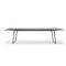 mesa moderna / de roble / de aluminio / de material laminado