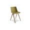 silla moderna / con reposabrazos / apilable / patín